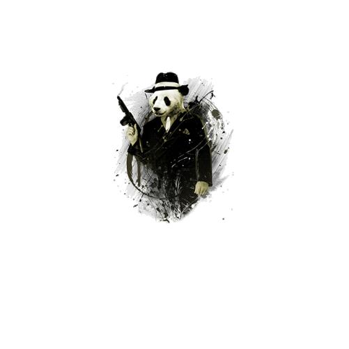 Дитяча футболка з пандою-гангстером. Ціна 8346fa16e5586