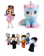 Ляльки та аксесуари, м'які іграшки, тварини і мульперсонажі