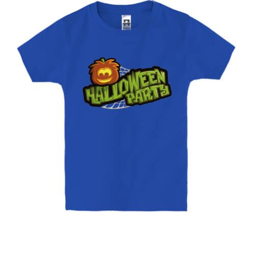 Дитяча футболка з написом Halloween party (Вечірка). Ціна e12827f5e2a9f