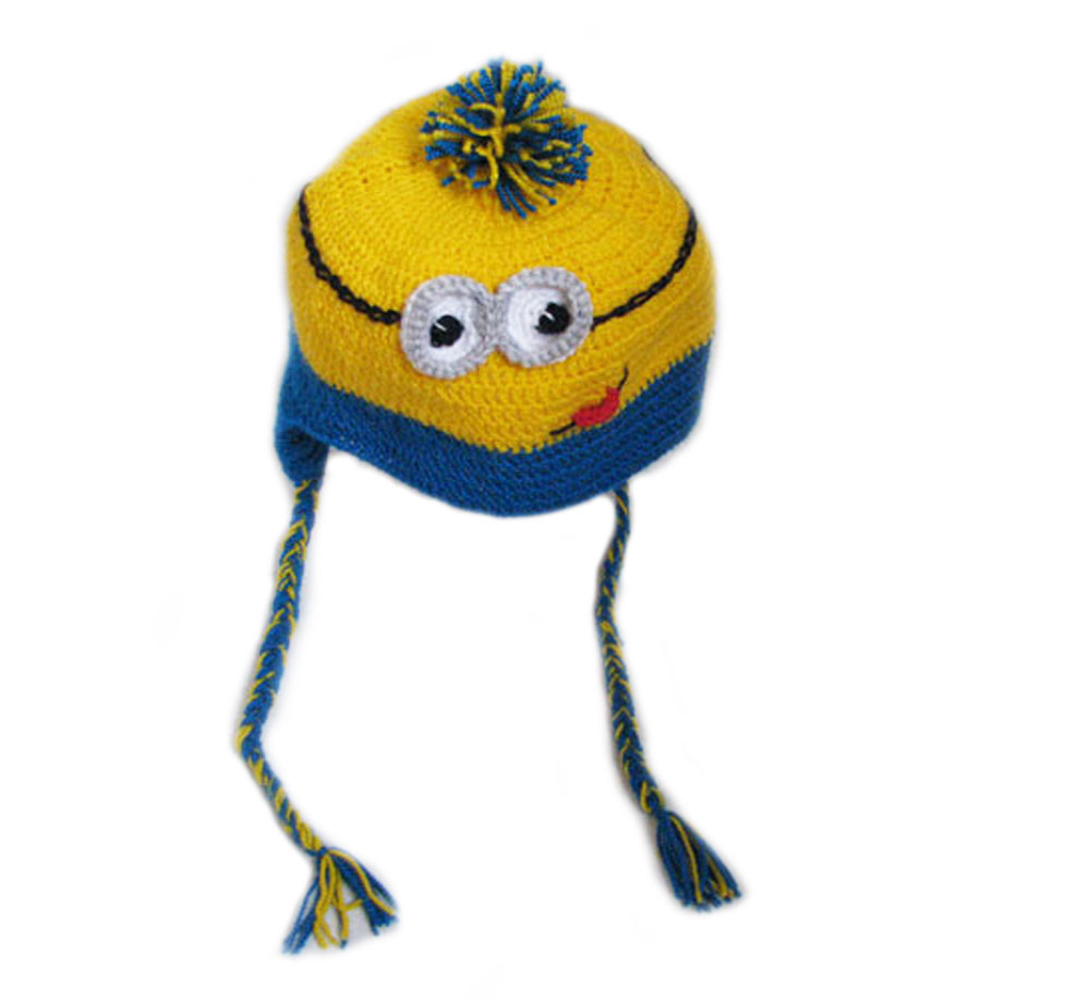 детская вязаная шапка миньон цена купить детская вязаная шапка