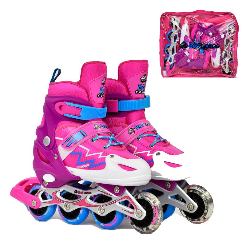 b20d21fbd90de5 Дитячі ролики BEST ROLLERS для дівчаток Рожеві. Ціна, купити Дитячі ...