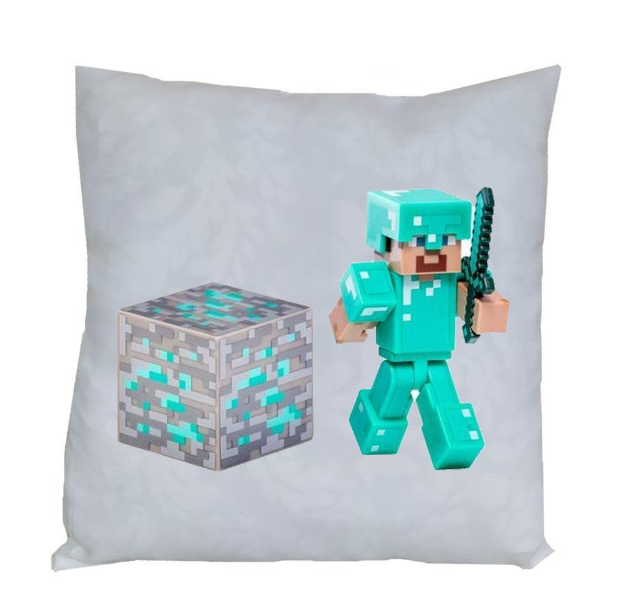 """Подушка """"Minecraft"""" Алмазный Стив. Цена, купить Подушка ..."""