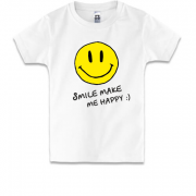 Дитяча футболка Smile Make me happy