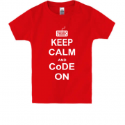 Дитяча футболка Keep calm and code on